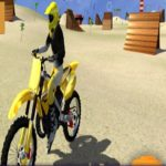 motor cycle beach stunt